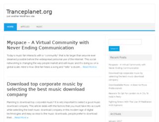 tranceplanet.org screenshot