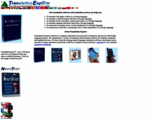 tranexp.com screenshot