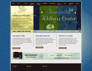 tranquilitiwellnesscenter.com screenshot