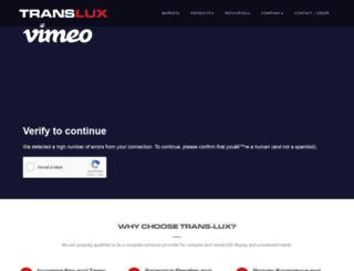 trans-lux.com screenshot