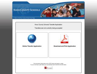 transapp.knoxschools.org screenshot