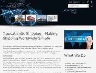 transatlantic-shipping.co.uk screenshot