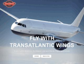 transatlanticwings.co.uk screenshot