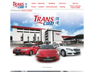 transcabservices.com.sg screenshot