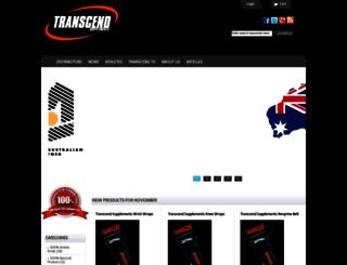 transcendsupplements.com.au screenshot