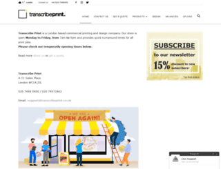 transcribeprint.co.uk screenshot
