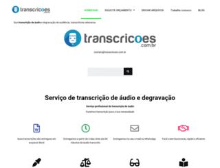 transcricoes.com.br screenshot