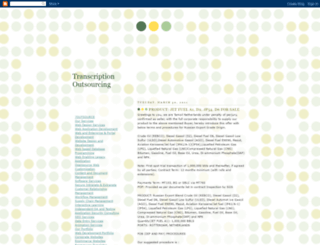transcriptionooutsourcing.blogspot.in screenshot