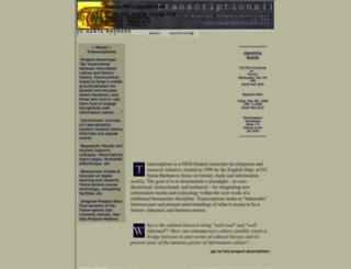 transcriptions-2008.english.ucsb.edu screenshot