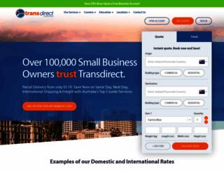 transdirect.com.au screenshot