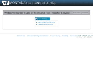 transfer.mt.gov screenshot