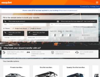 transfers.easyjet.com screenshot