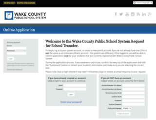 transfers.wcpss.net screenshot