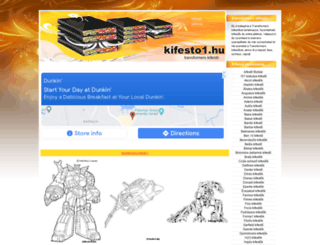 transformers-kifestok.kifesto1.hu screenshot