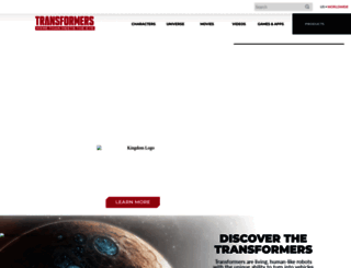 transformers.com screenshot