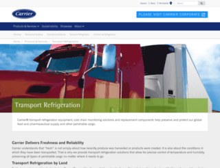 transicold.carrier.com screenshot