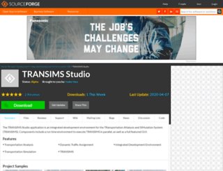 transimsstudio.sourceforge.net screenshot