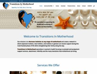 transitionsinmotherhood.com screenshot
