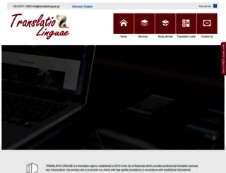translatiolinguae.gr screenshot