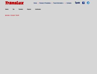 translux.co.za screenshot