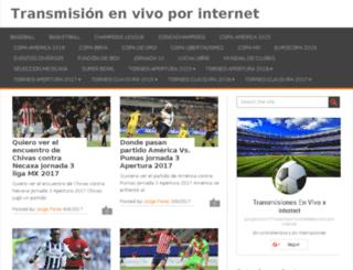transmisionesenvivo.net screenshot