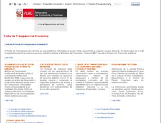transparencia-economica.mef.gob.pe screenshot
