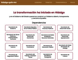 transparencia.hidalgo.gob.mx screenshot