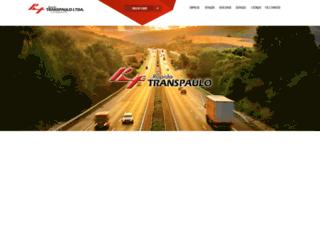 transpaulo.com.br screenshot