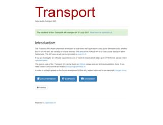 transport.opendata.ch screenshot