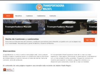 transportadoramazatl.com.mx screenshot