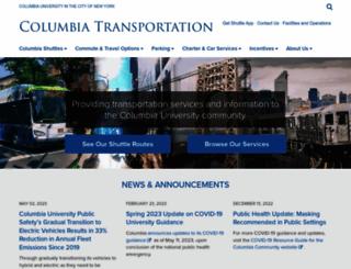transportation.columbia.edu screenshot