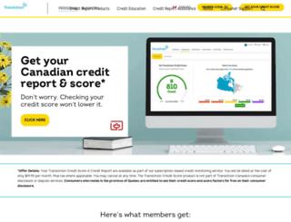 transunion.ca screenshot