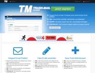 trash-mail.com screenshot