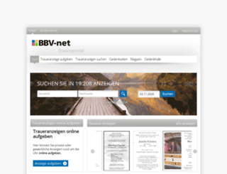 trauer.bbv-net.de screenshot