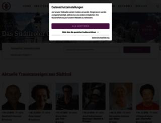 trauerhilfe.it screenshot
