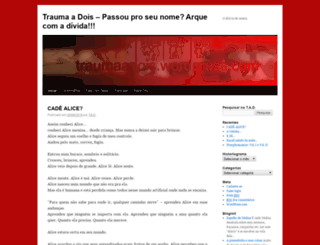 traumaadois.wordpress.com screenshot