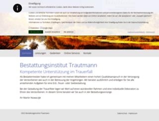 trautmann-bestattung.de screenshot