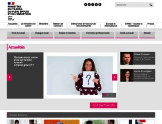 travail-emploi.gouv.fr screenshot