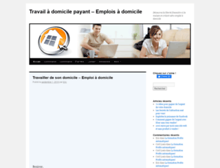 travailadomicilepayant.com screenshot