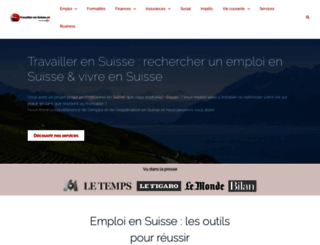 travailler-en-suisse.ch screenshot