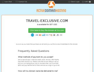 travel-exclusive.com screenshot