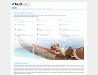 travel-list.de screenshot