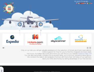 travel-to-help.com screenshot
