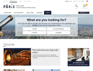 travel-trade.parisinfo.com screenshot