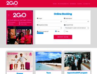 travel.2go.com.ph screenshot