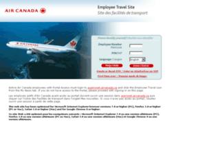 travel.aircanada.com screenshot