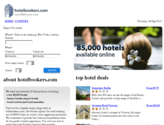 travel.ebookers.com screenshot