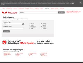 travel.koozon.co.uk screenshot