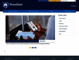 travel.psu.edu screenshot