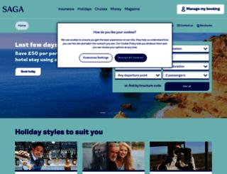 travel.saga.co.uk screenshot